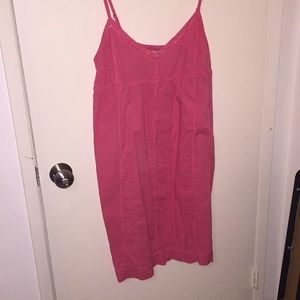 Pink mid-length summer dress